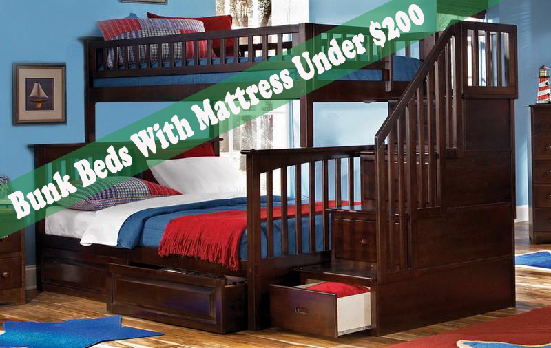 top 6 bunk beds with mattress under 200 best7reviews. Black Bedroom Furniture Sets. Home Design Ideas