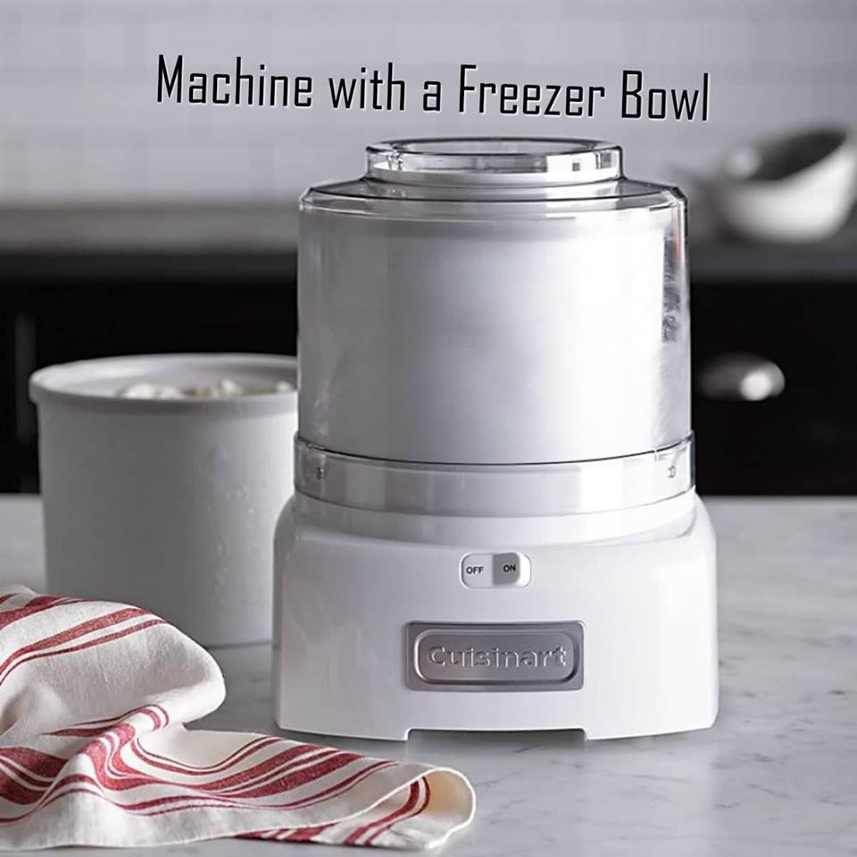 Ice cream makers with a freezer bowl